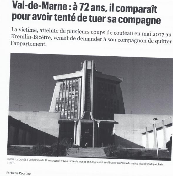 Article Le Parisien : Partie 1